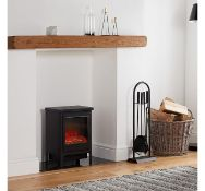 (K13) 1900W Contemporary Stove Heater The large window displays a realistic LED log fire Fea...