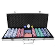 (G28) Poker Set - 500 Piece Complete With Casino Style Case Deluxe Portable Aluminium Carry ...