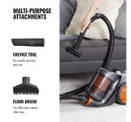 (OM119) 700W Bagless Vacuum 700W motor delivers powerful suction to lift dirt, dust and crumbs...