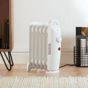 (V70) 6 Fin 800W Oil Filled Radiator - White Compact yet powerful 800W radiator with 6 oil-fil...