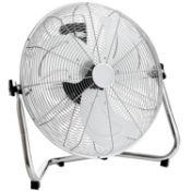 "(G31) 20"" Inch 50cm Chrome Floor Standing Gym Fan Air Circulator Heavy Duty 3 Speed Push But..."