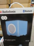 New & Boxed Audio Sonic Bluetooth Sk1537 Outdoor Led Colour Changing Speaker. 6 Watt.