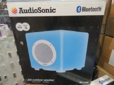 New & Boxed Audio Sonic Bluetooth Sk1539 Outdoor Led Colour Changing Speaker. 10 Watt.