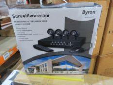 New & Boxed Byron Dvr500Set. Professional Cctv System. 4 Camera 500Gb. 4 Colour Cameras, Bui...