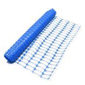 (PR86) Heavy Duty Blue Safety Barrier Mesh Fencing 1mtr x 25mtr Roll Dimensions 1m x 25m Dura...