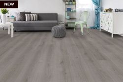 NEW 9.54m2 WILD DOVE OAK LAMINATE FLOORING . The elegant mid-grey hue of this floor complements...