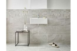 NEW 8.64m2 Bloomsbury Brook Edge Lapatto Rock Wall and Floor Tiles. 300x600mm per tile, 8.3mm ...