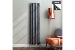 1600x360mm Anthracite Single Oval Tube Vertical Radiator.RC52.RRP £339.99 each.Made from low c...