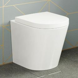 NEW & BOXED Lyon Back To Wall Toilet with Soft Close Seat. RRP £349.99 each. Our Lyon back ...