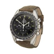 Omega Speedmaster 145.022-69 ST Men Stainless Steel Straight Writing Chronograph Watch