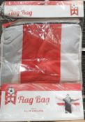 20 x england flag bag 2 in 1 with a huge fold out flag. rrp upto £17.99 each