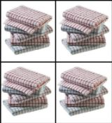 5 packs of 10 teatowels excellent quality rrp £19.99 per pack