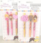 24 packs x disney princess, 3 character pen sets. 72 pens in total