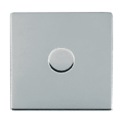 Hamilton Sheer Bright Chrome Push On/Off 600W Dimmer 1 Gang 2 way with Bright Chrome Insert