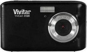 2 x 18 Megapixel Compact Digital Camera Vivitar E128 18MP with a 2.7 Screen Purple & Black