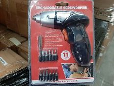 3.6V 12PC RECHARGEABLE CORDLESS ELECTRIC SCREWDRIVER POWER BIT SET KIT RRP £19.99