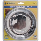 "Magnetic Round Dish Tray 6"" Pins Needles Screws Bolts Nuts Parts Marksman"