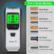 Stud Finder, Stud Detector 5 in 1 Mutifunction Wall Scanner Upgraded Smart Sensor, HD LCD Displ