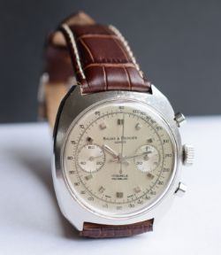Lovely Vintage Baume And Mercier Chronograph Just Serviced