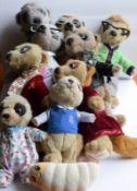 Collection Of Ten Meerkats Toys
