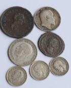 Group Of Seven Old Coins