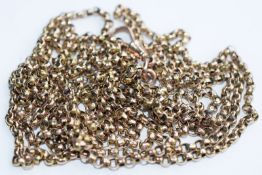9ct Gold Muff Chain 60 Inches