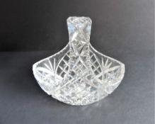 Vintage Bohemian Crystal Flower Basket