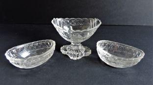 Vintage Art Deco Garniture Glass Dishes