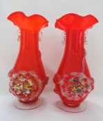 Antique Art Nouveau Vases Stevens & Williams Glass