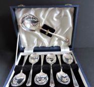 Art Deco Mappin & Webb Dessert Spoons Set
