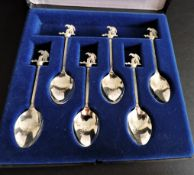 Lords Cricket Ground Silver Plated Spoon Set
