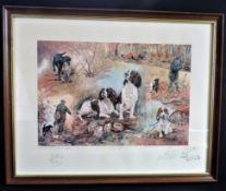 Gillian Harris Limited Edition Signed Hunting Print 'A Day Out'