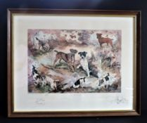 Gillian Harris Limited Edition Signed Print 'The Wild Bunch'