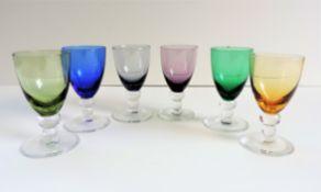 Vintage Multi-colour Shot Glasses