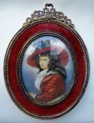 Antique Portrait Miniature Regency Lady