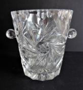 Vintage Bohemian Crystal Wine Cooler/Ice Bucket