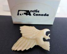 Hand Carved Eagle Brooch