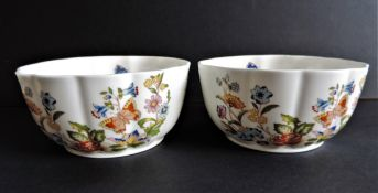 Aynsley Bone China Cottage Garden Bowls