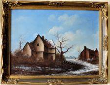 Original Oil on Canvas Dutch Scene