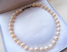 Cultured Pearl Necklace Large 10mm Pearls