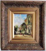 Jonny Gaston Original Oil Painting Street Scene