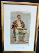 Original Antique VANITY FAIR Spy Print - Lord Hawke 'Yorkshire Cricket'
