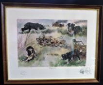 Gillian Harris Limited Edition Signed Hunting Print 'Working Wonders'