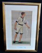 Original Antique VANITY FAIR Spy Litho - Charles Burgess Fry 'Oxford Athletics'
