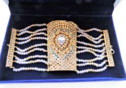 Crystal Studded Cuff Bracelet