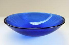 Vintage Art Glass Cobalt Blue Bowl