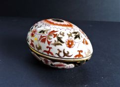 Porcelain Egg Shaped Trinket Dish