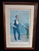 Original Antique VANITY FAIR SPY Lithograph - Billiards 'H.W Stevenson'