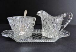 Vintage Glass Creamer Set