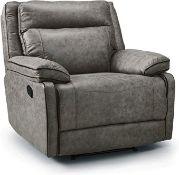 Brand New Boxed Cheltenham Manual Reclining Arm Chair In Light Grey Mushroom Colour